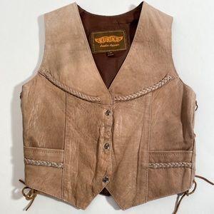 100% Leather Unik Leather Boho Festival Vest